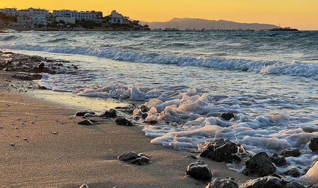 Plaża Magalochori na wyspie Agistri
